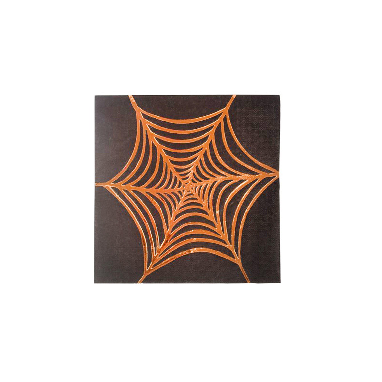 BUY ME / NEW ITEM $8.99 each Rose Gold Foil Cobweb Small Paper Napkins - 16 Pack