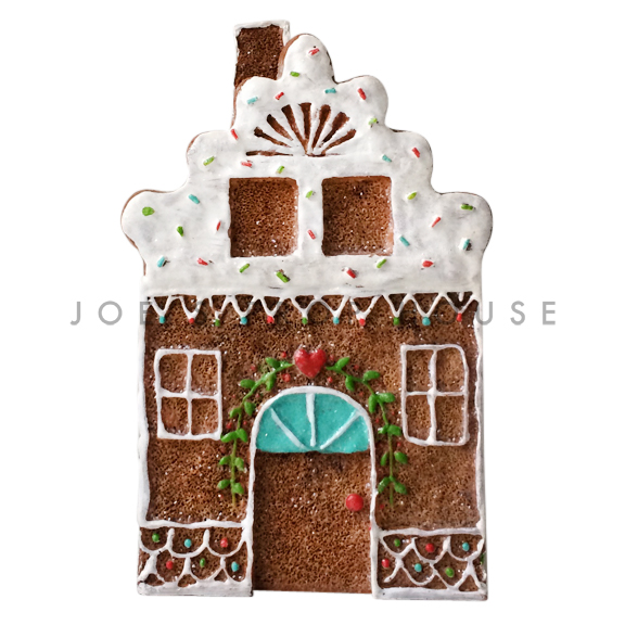 White Roof Gingerbread House