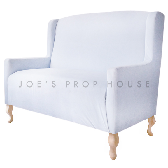 Cielo Low Back Banquette Powder Blue W51in x D30in x H45in