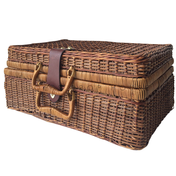 Agatha Rectangular Wicker Picnic Basket