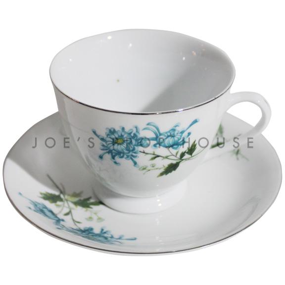 Tasse à thé et soucoupe florale Gemma