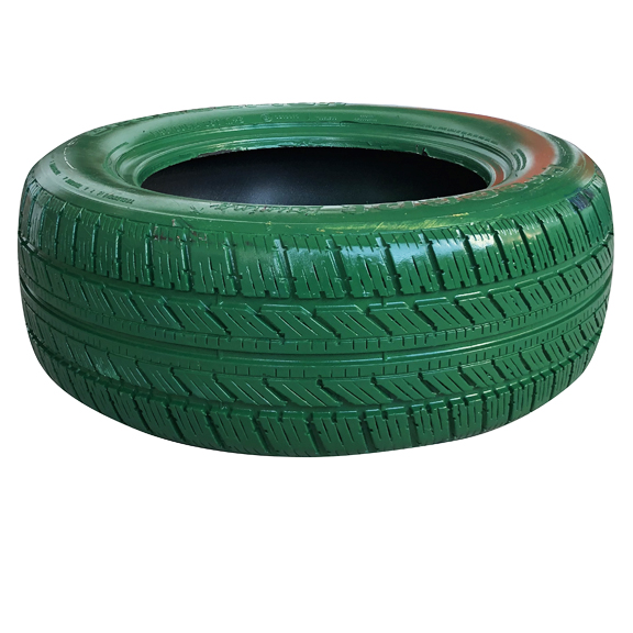 Green Painted Tire