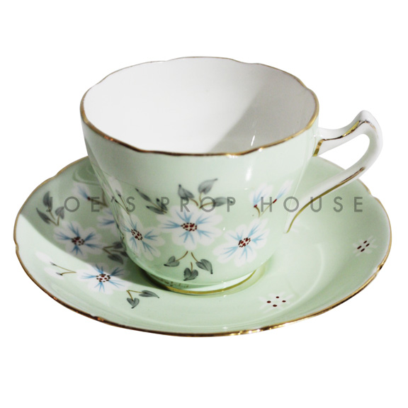Agatha Floral Taecup and Saucer