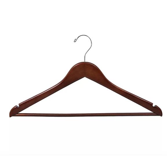 BUY ME / USED ITEM $12.00  Redwood Wood Pant Hangers - 12 Pack