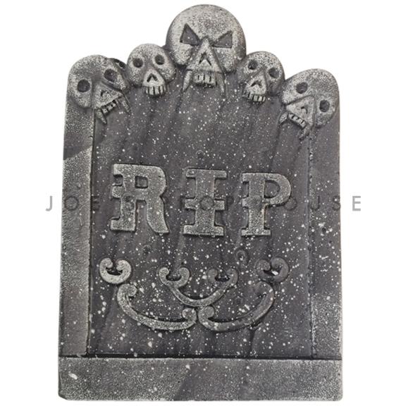 BUY ME / USED ITEM $4.99 each Skull Heads RIP Foam Tombstone Charcoal