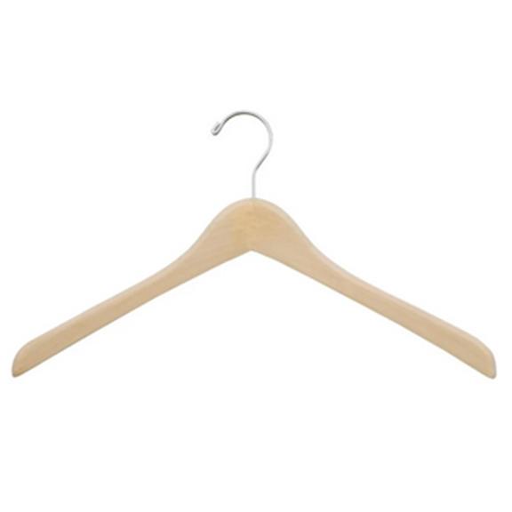 BUY ME / USED ITEM $10.00 Natural Wood Coat Hangers  - 12 Pack