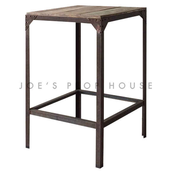 Santiago Wood Top Metal Frame Cruiser Table