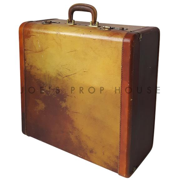 Milton Leather Hardshell Luggage LARGE