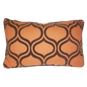 Orange & Brown Rectangular Pillow