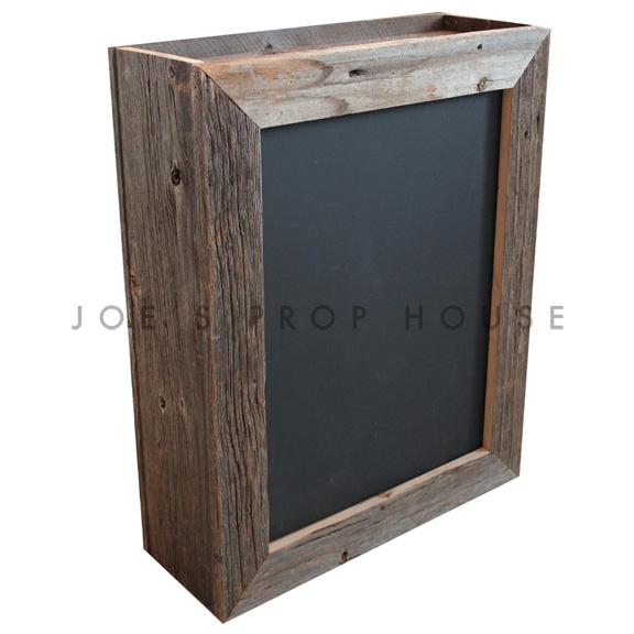 Double Sided Chalkboard Barnwood Box Frame