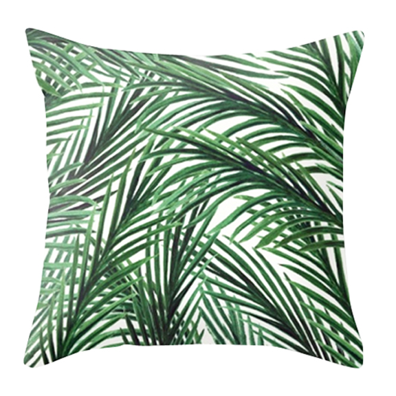 Palm Springs Square Accent Pillow Green