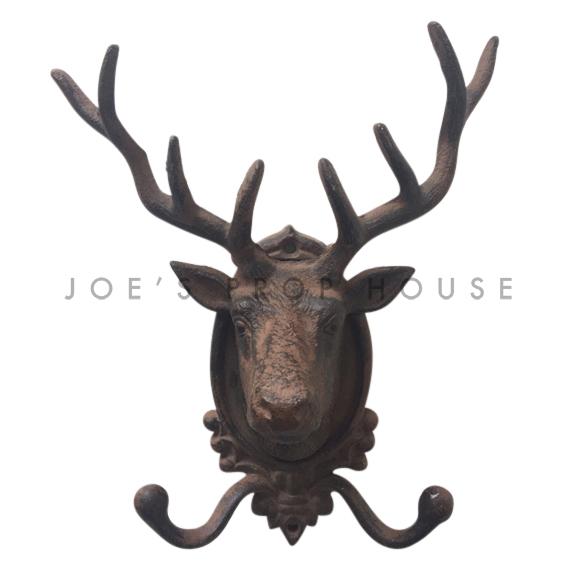 Cast Iron Deer Head Garment Hook