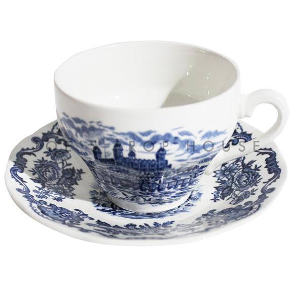 Chateau Blue Teacup and Saucer