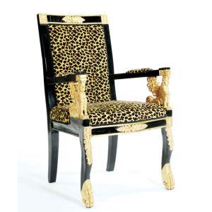 Leopard Velour Armchair