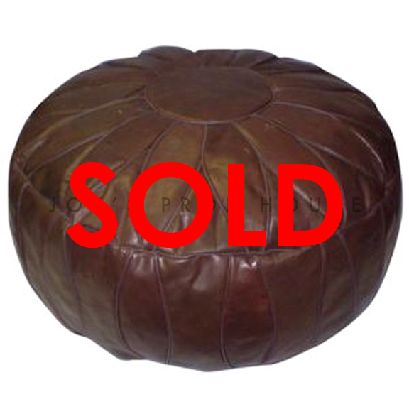 Leather Ottoman Brown