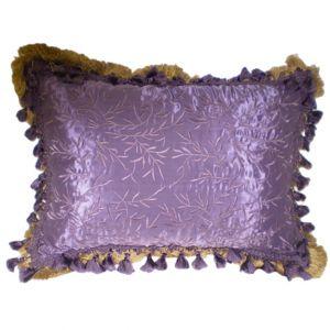 Purple Satin Pillow w/ tassels