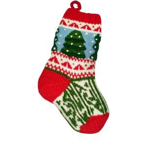 Jolly Christmas Knit Stocking