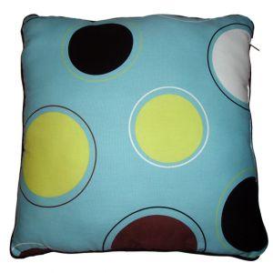 Aqua Polka Dot Pillow