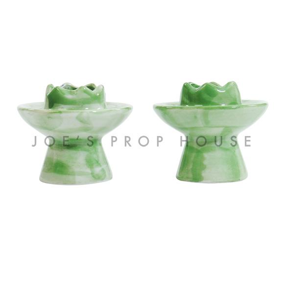 Freida Porcelain Candlesticks - set of 2