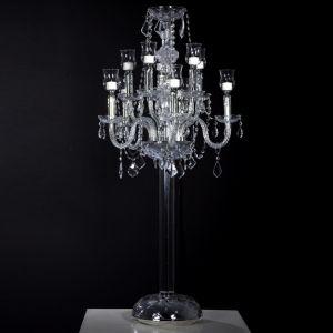 Clear Crystal Candelabra Centerpiece H47in
