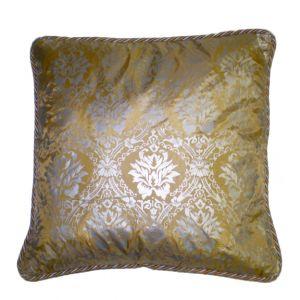 Blue & Gold Damask Pillow