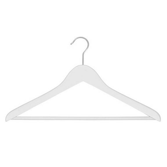 BUY ME / USED ITEM $12.00 White Wood Pant Hangers - 12 Pack