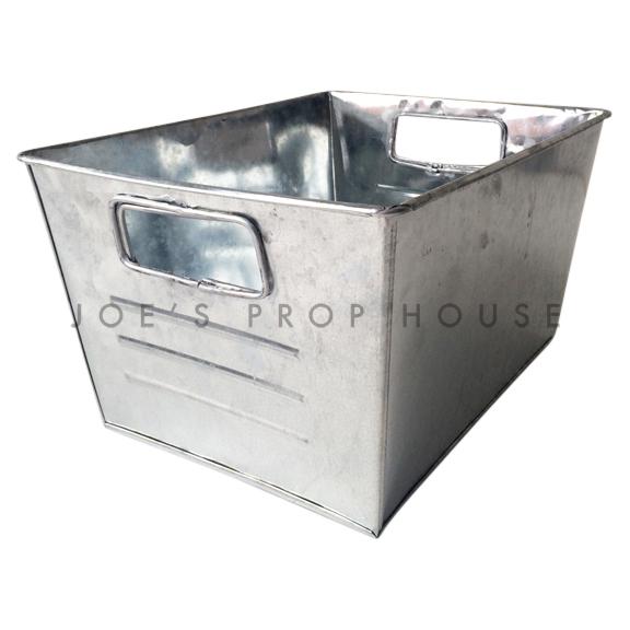 Rectangular Galvanized Metal Bucket SMALL