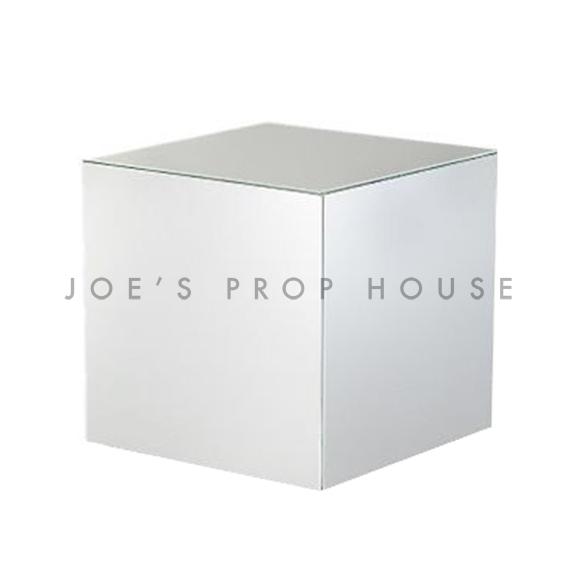 Silver Chrome Cube Display Riser W8in x H8in x D8in