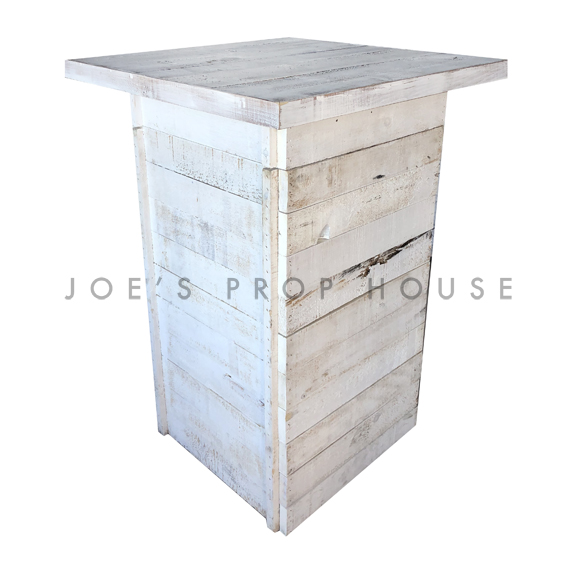 Whitewash Palette Cruiser Table w/WHITEWASH Square Top