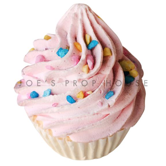 Strawberry Cupcake w/Sprinkles Dessert Prop