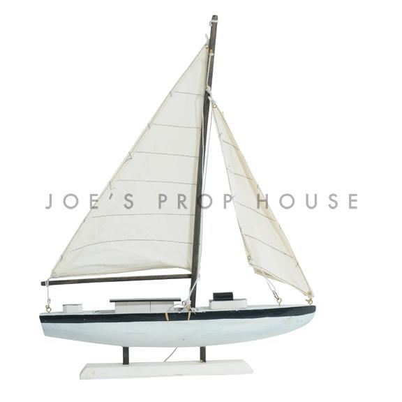 White Model Sailboat