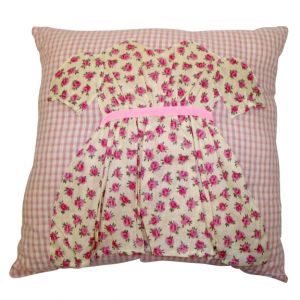 Pink Gingham Pillow w/ dress