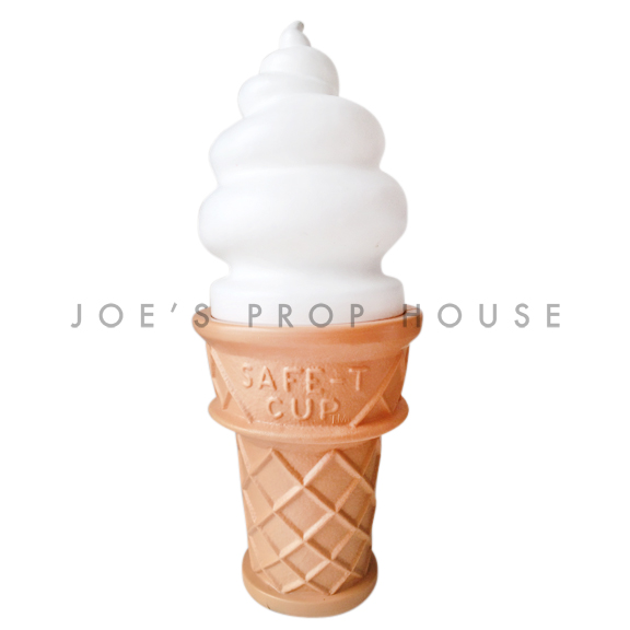 Giant Vanilla Ice Cream Cone