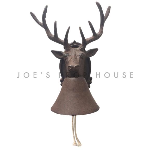 Cast Iron Deer Head Bell