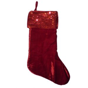 Red Sequins Christmas Stocking