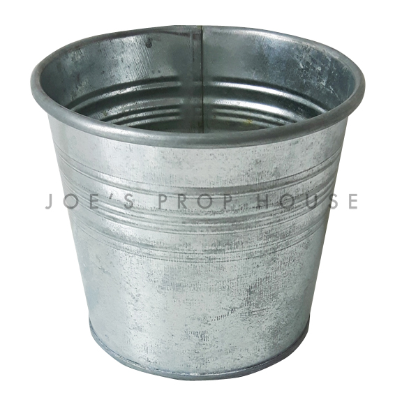 Short Galvanized Metal Bucket Small