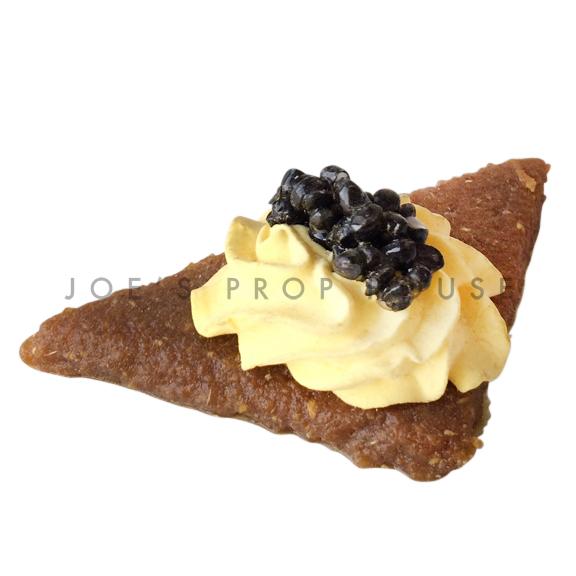 Black Caviar Whipped Egg Gravlax Cracker Food Prop