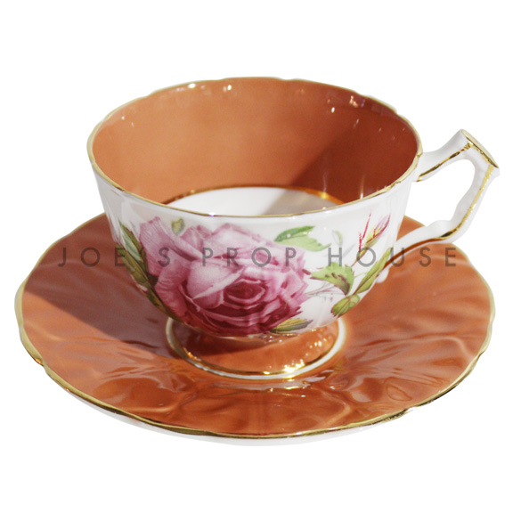 Roses Teacup and Saucer