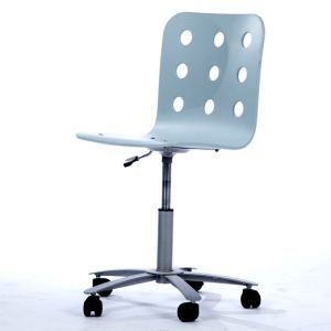 Beverly Rolling Desk Chair Blue