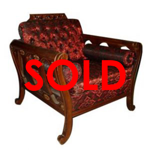 BUY ME / USED ITEM Red Spanish Style Armchair