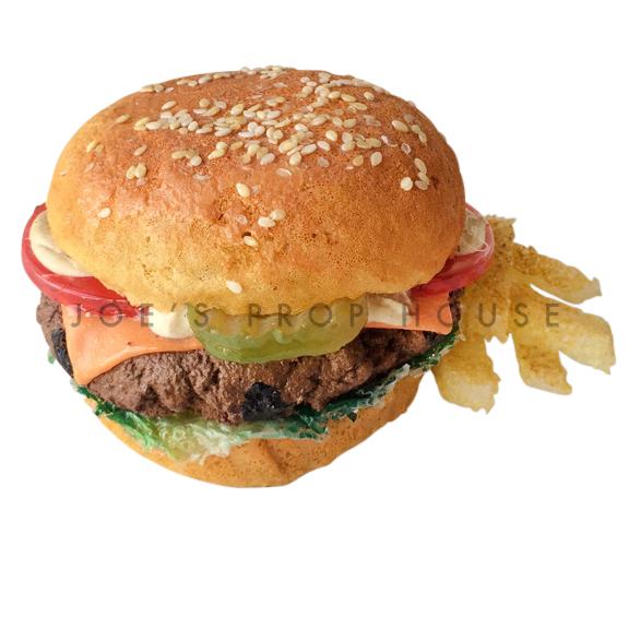 All Dressed Hamburger w/Fries Food Prop