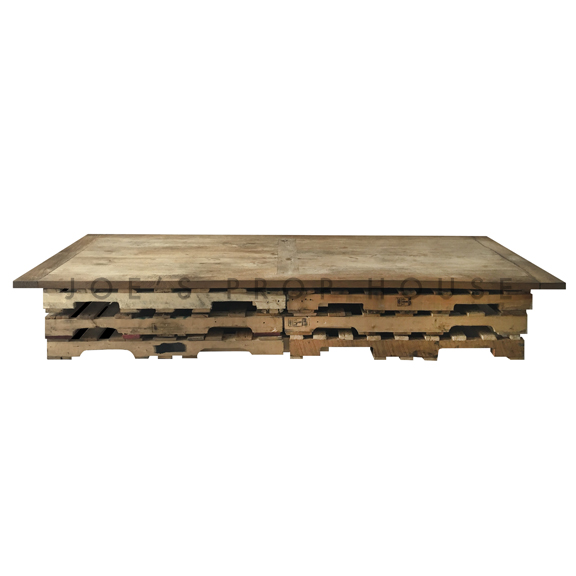 Reclaimed Wood Floor Seating Palette Dining Table