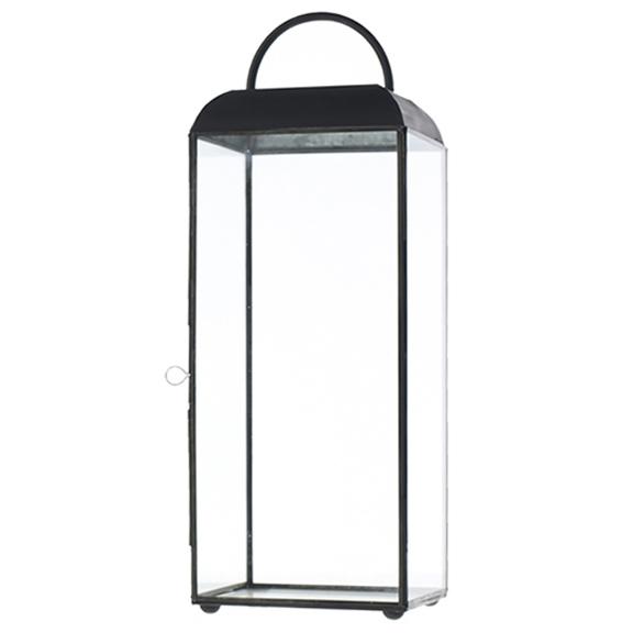 Maxwell Black Metal Lantern Large H18in