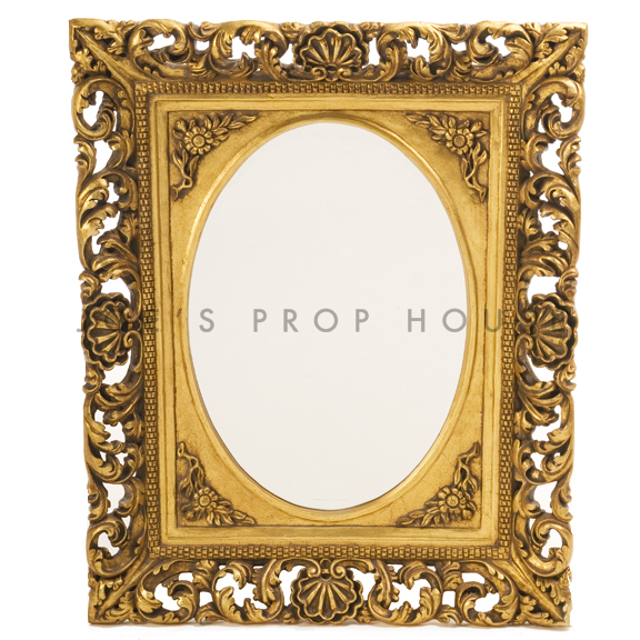 Oval Rococo WALL Mirror Gold