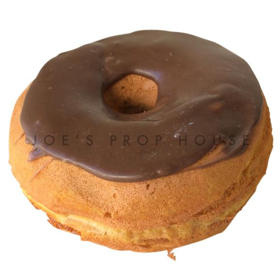 Chocolate Glaze Donut Dessert Prop