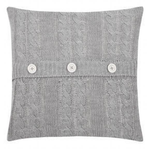 Light Grey Knit Accent Pillow