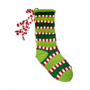 Peppermint Christmas Knit Stocking