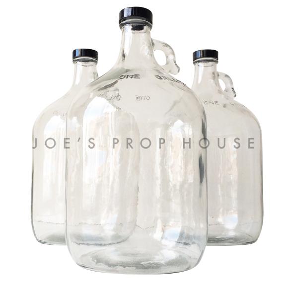 Empty Clear Glass Moonshine Jugs - 1 Gallon