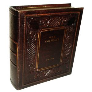 War and Peace Hard Cover Faux Book Black
