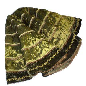 Green Satin Tree Skirt